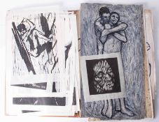 Gerald Anthony Coles, a folder of woodcuts, paintings etc. He was a painter, woodcut and monotype