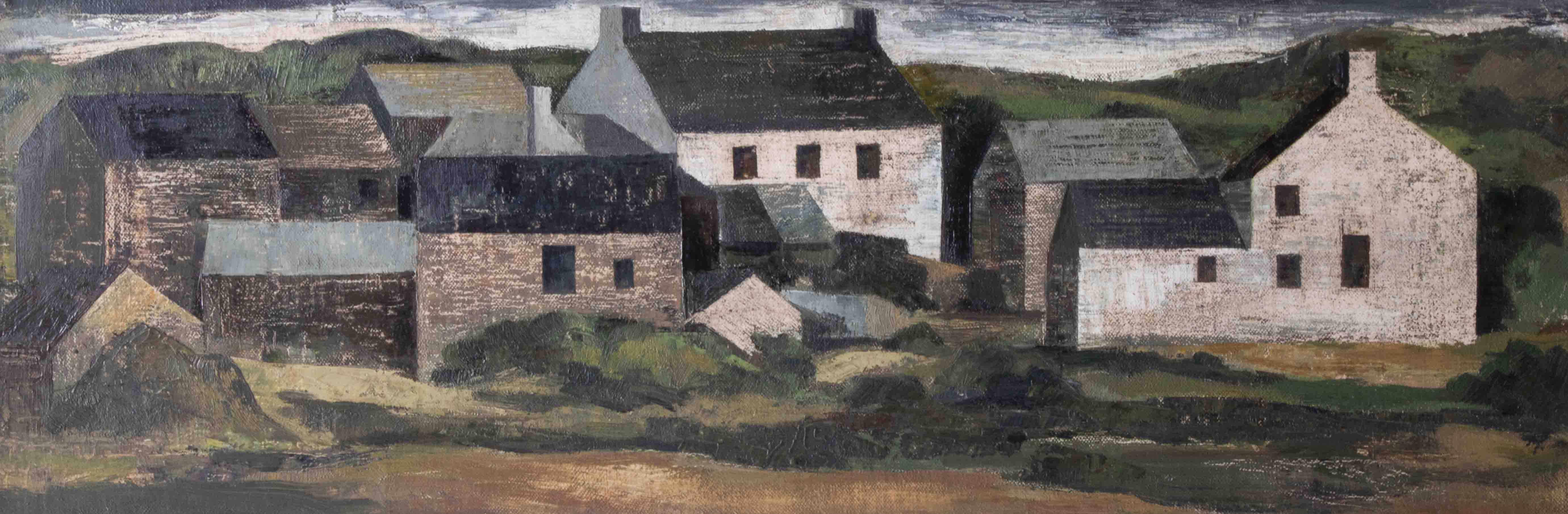 Alexander Mackenzie (1923-2002), oil on board, 'Bosulval', signed, titled and inscribed on - Image 2 of 2