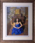 Robert Lenkiewicz (1941-2002) 'Anna Seated', signed limited edition print 84/475, 53cm x 39cm,