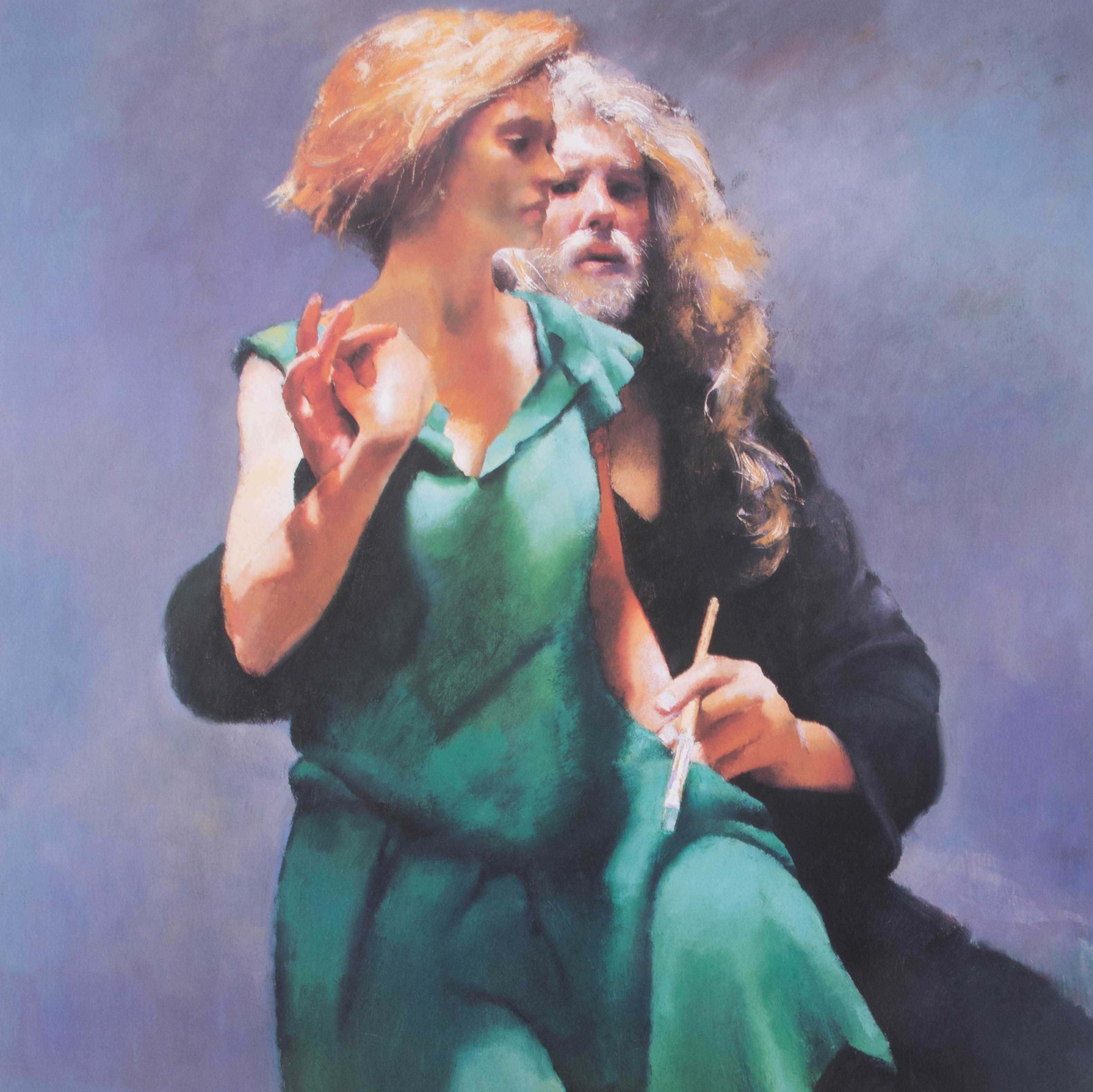Robert Lenkiewicz (1941-2002) 'Bella With The Painter', signed limited edition print 540/550, framed