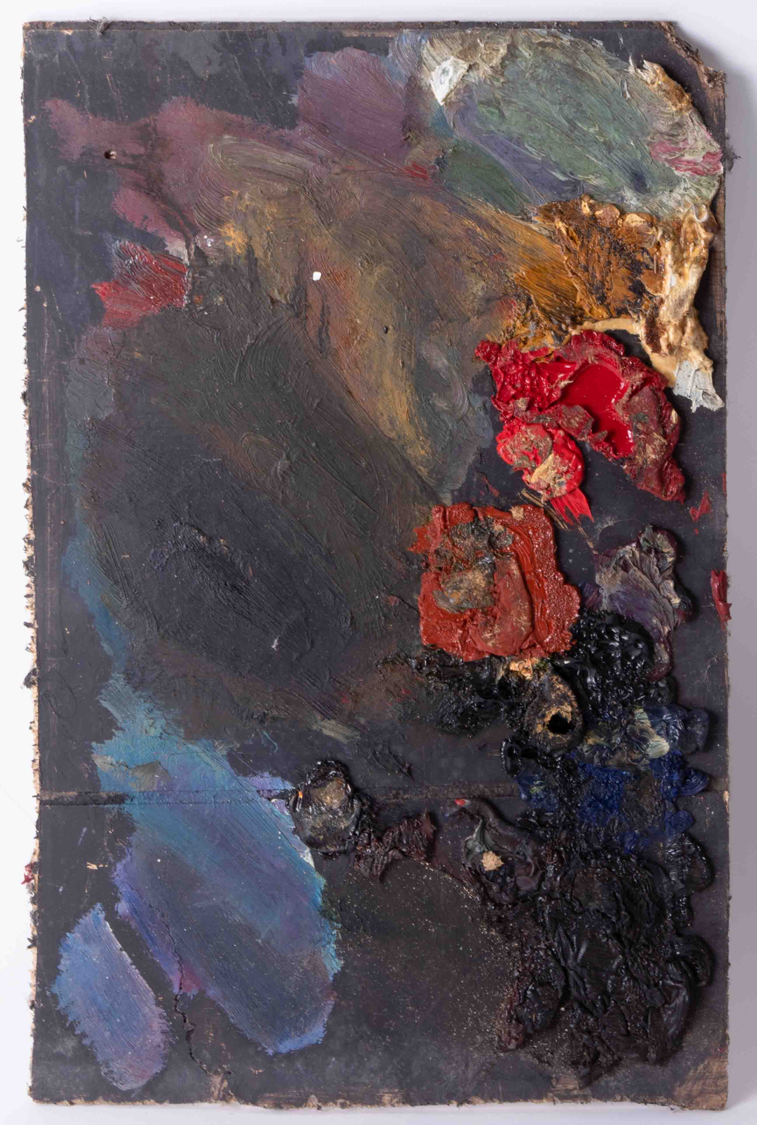 Robert Lenkiewicz (1941-2002) four artist palettes, unframed, Provenance, from a private studio that - Image 5 of 5