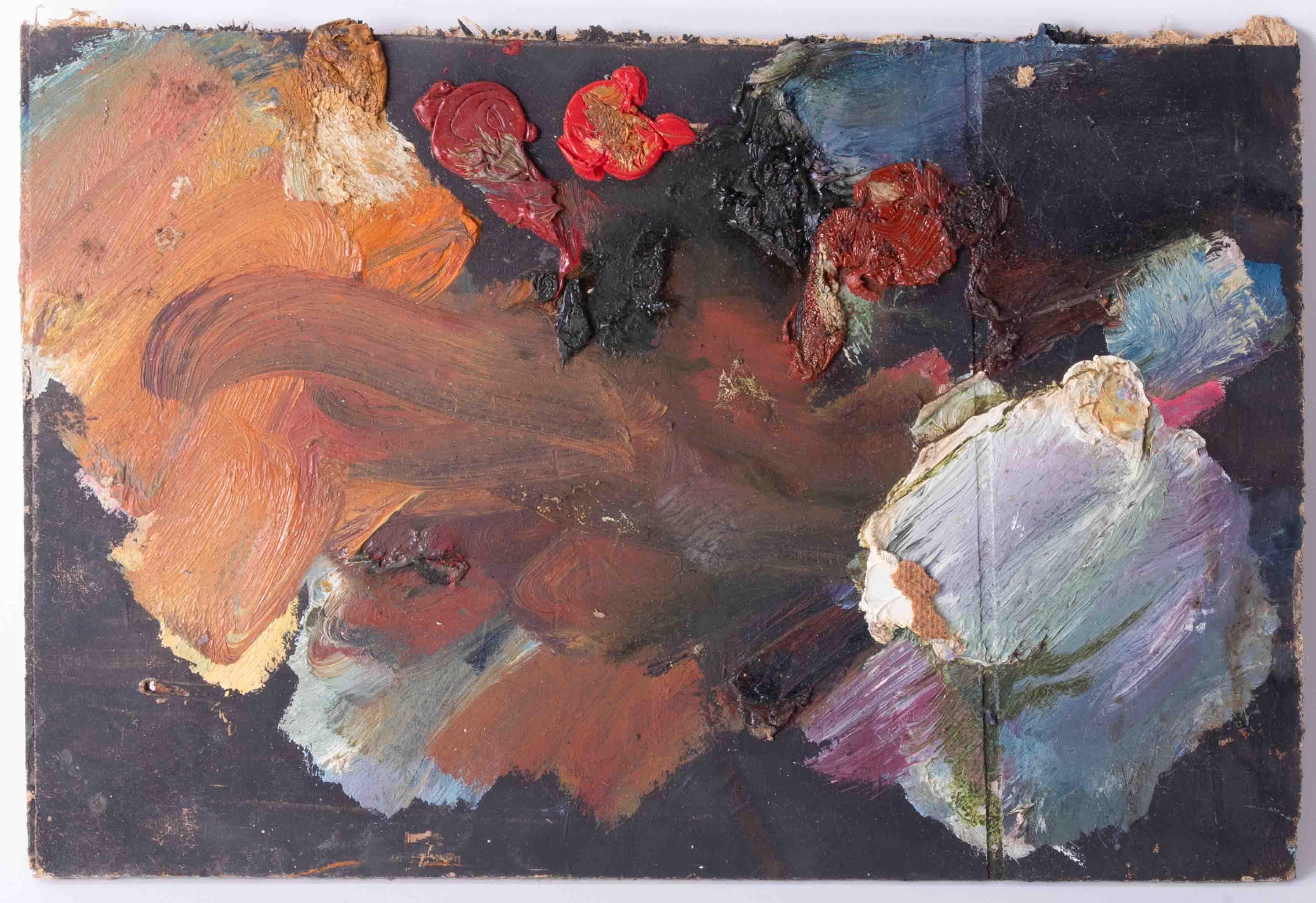 Robert Lenkiewicz (1941-2002) four artist palettes, unframed, Provenance, from a private studio that - Image 3 of 5