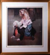 Robert Lenkiewicz (1941-2002) 'Painter With Lisa', signed limited edition print 347/395, 80cm x