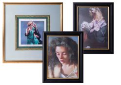 Robert Lenkiewicz (1941-2002) three open prints to include 'Bella With The Printer', all framed