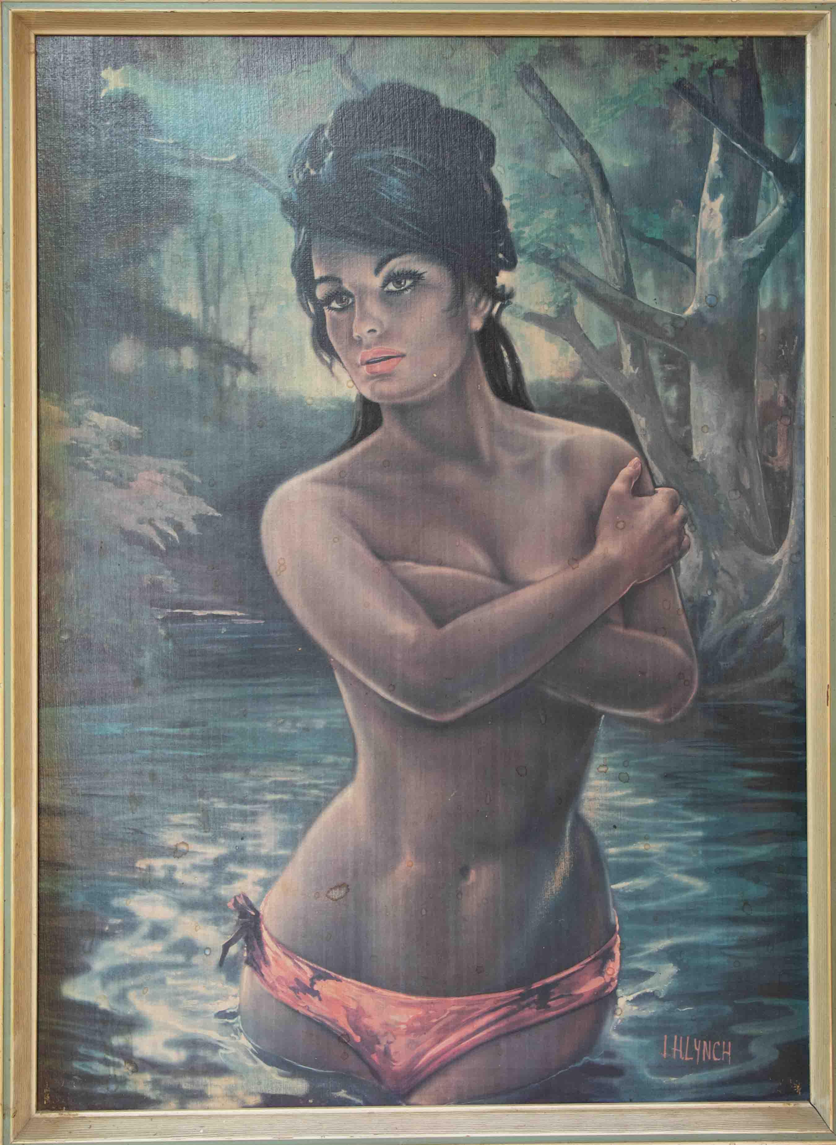 J.Lynch, 'Nymph' print, 68cm x 49cm, framed.