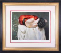Robert Lenkiewicz (1941-2002) 'Esther Rear View', signed limited edition print 174/250, framed and