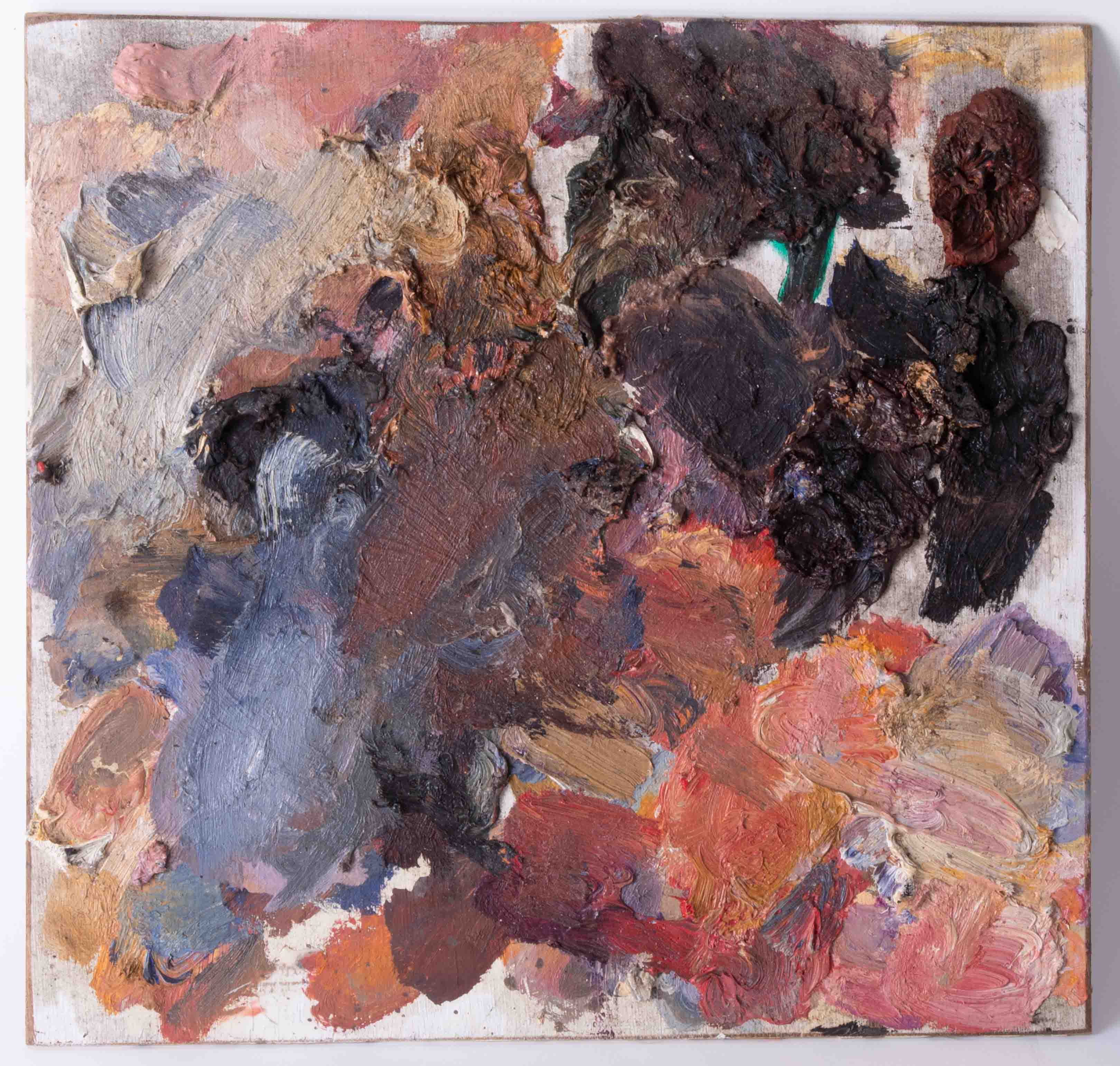 Robert Lenkiewicz (1941-2002) four artist palettes, unframed, Provenance, from a private studio that - Image 2 of 5