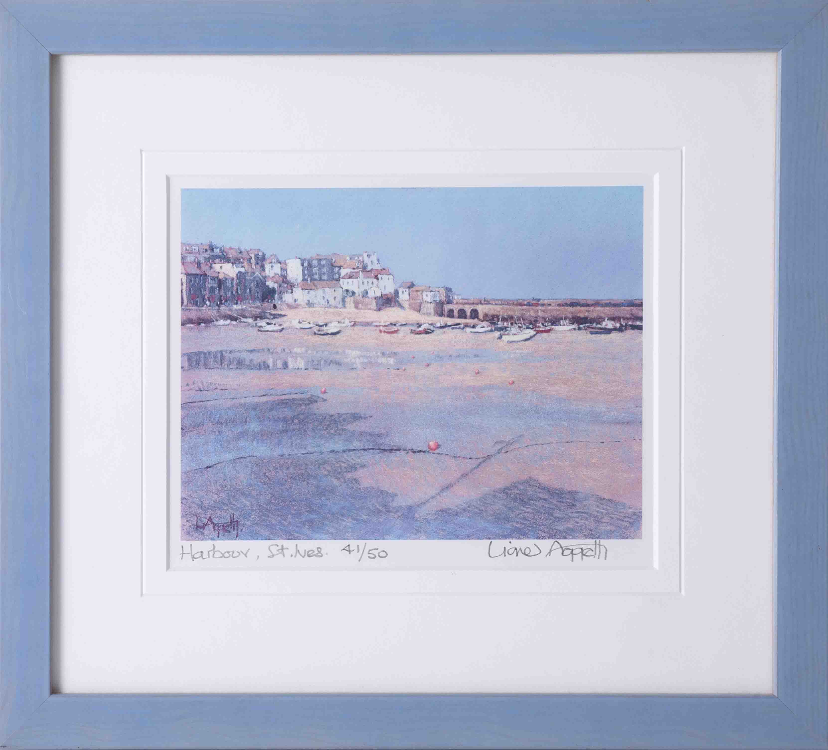 Lionel Aggetts, two limited edition prints including 'Harbour St.Ives' 41/50 and 'View From The - Image 5 of 6