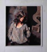 Robert Lenkiewicz (1941-2002) oil on board 'Monochrome Study, 1980', 32cm x 29cm, framed, signed,