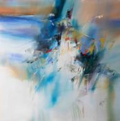 Wilkinson, contemporary abstract painting, oil on board, signed, unframed, overall size 76cm x