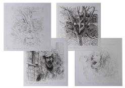 Robert Lenkiewicz (1941-2002) set of four etchings to comprising 'Swallowing Time', 'Painters