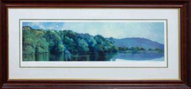 Robert Lenkiewicz (1941-2002) 'Warren Woods', signed limited edition print 357/375, framed and