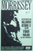 Poster - Morrissey 1992 'Your Arsenal Tour' San Diego concert poster 28cm x 44cm excellent