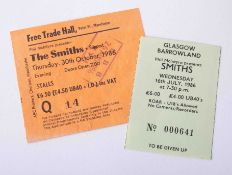 Rare Smiths Ticket Stub - The Smiths Manchester free trade hall, 30th Oct 1986, original ticket stub