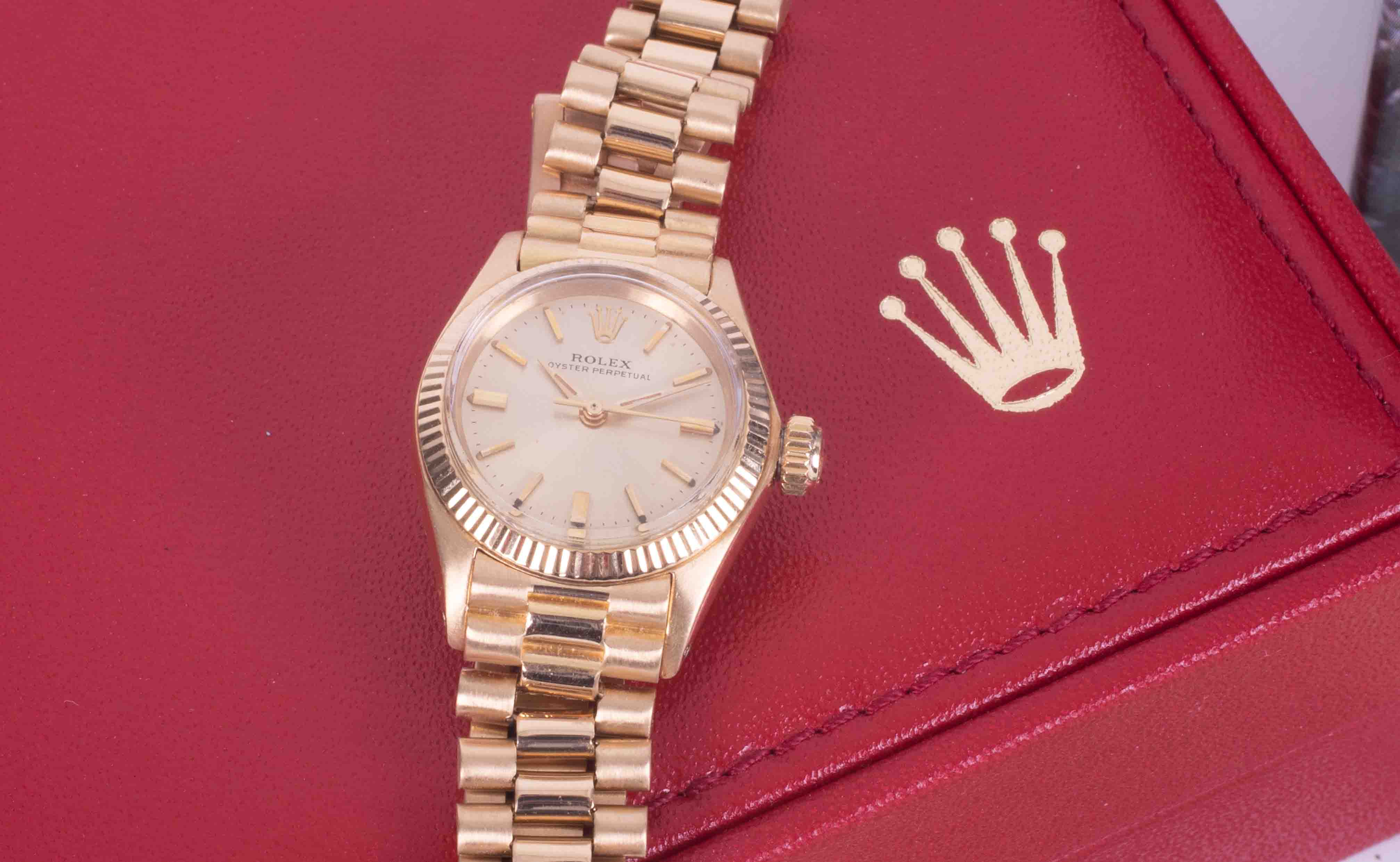 Rolex, a 1967 ladies 18ct yellow gold Oyster Perpetual wristwatch, with guarantee dated 11th - Image 3 of 3