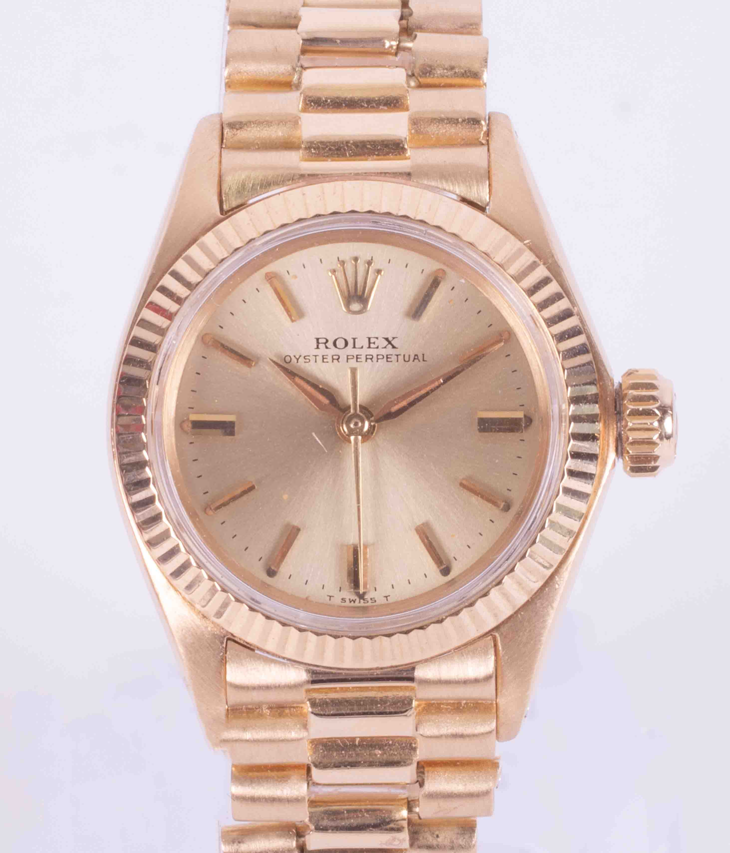 Rolex, a 1967 ladies 18ct yellow gold Oyster Perpetual wristwatch, with guarantee dated 11th
