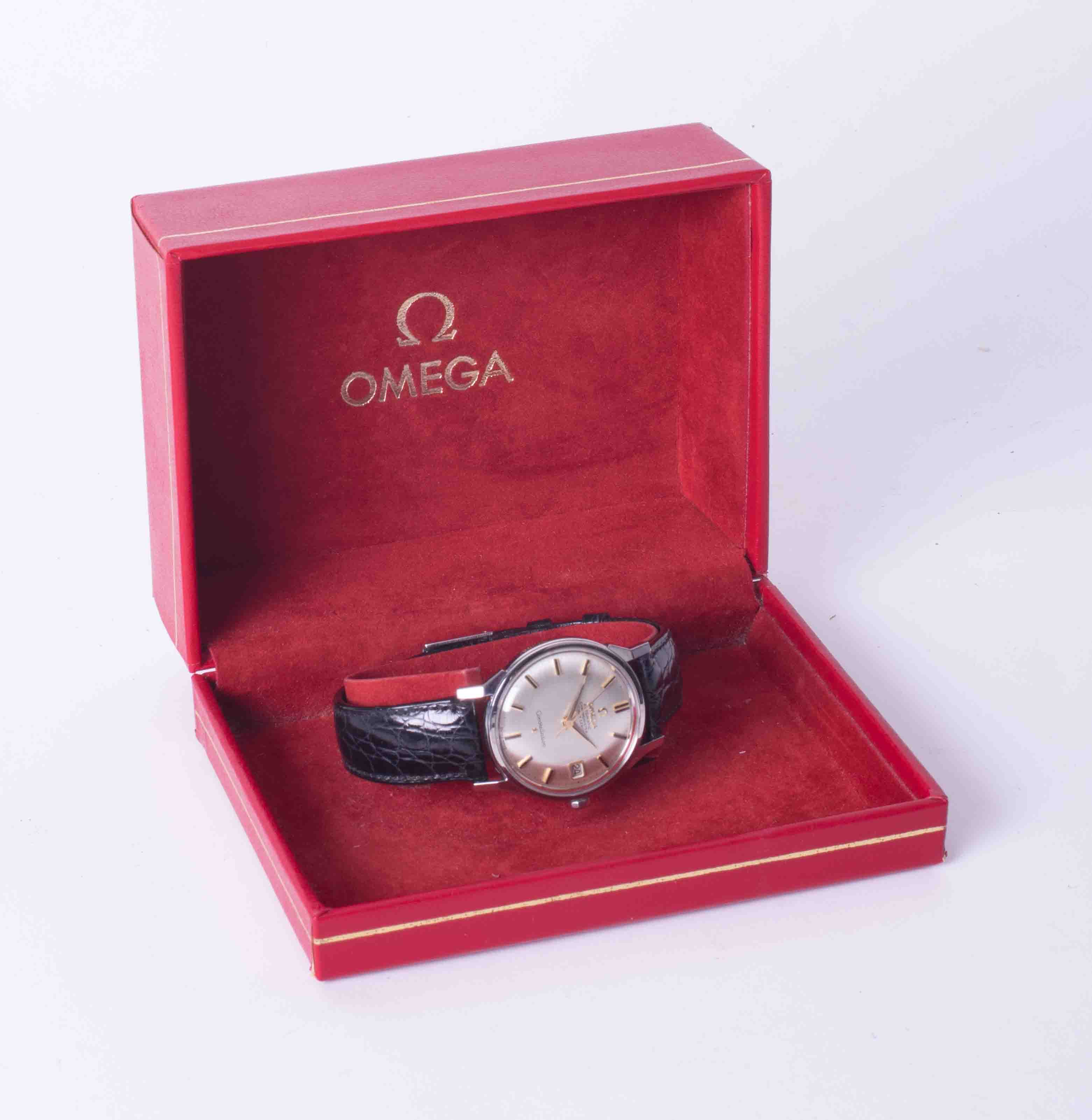 Omega, a gents stainless steel automatic chronometer Constellation wrist watch with date, silvered - Image 2 of 2