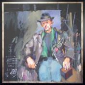 Robert Lenkiewicz (1941-2002) Project 20 Addictive Behaviour, oil on canvas 'A Man In Leather Jacket