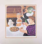 Beryl Cook (1926-2008) 'Dining In Paris', signed limited edition lithograph print 537/650, published