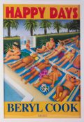 Beryl Cook (1926-2008) 'Happy Days' poster, now out of print issued in 1995 by her publisher