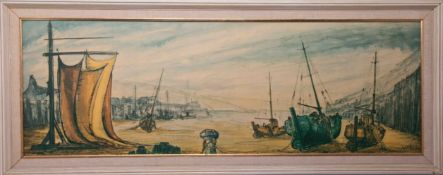 Three Ben Maile prints including 'Boats, 'The Pantiles' 183/350 and 'Mary Rose' (3).