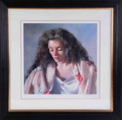 Robert Lenkiewicz (1941-2002) 'Study of Anna' signed limited edition print 509/750, with certificate