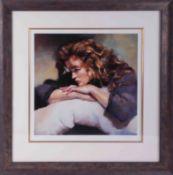 Robert Lenkiewicz (1941-2002) 'Study of Lisa' signed limited edition print 432/750, 37cm x 37cm,