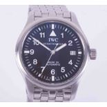 I.W.C., a gents stainless steel automatic date Pilot Mark XV wristwatch, model number 325307
