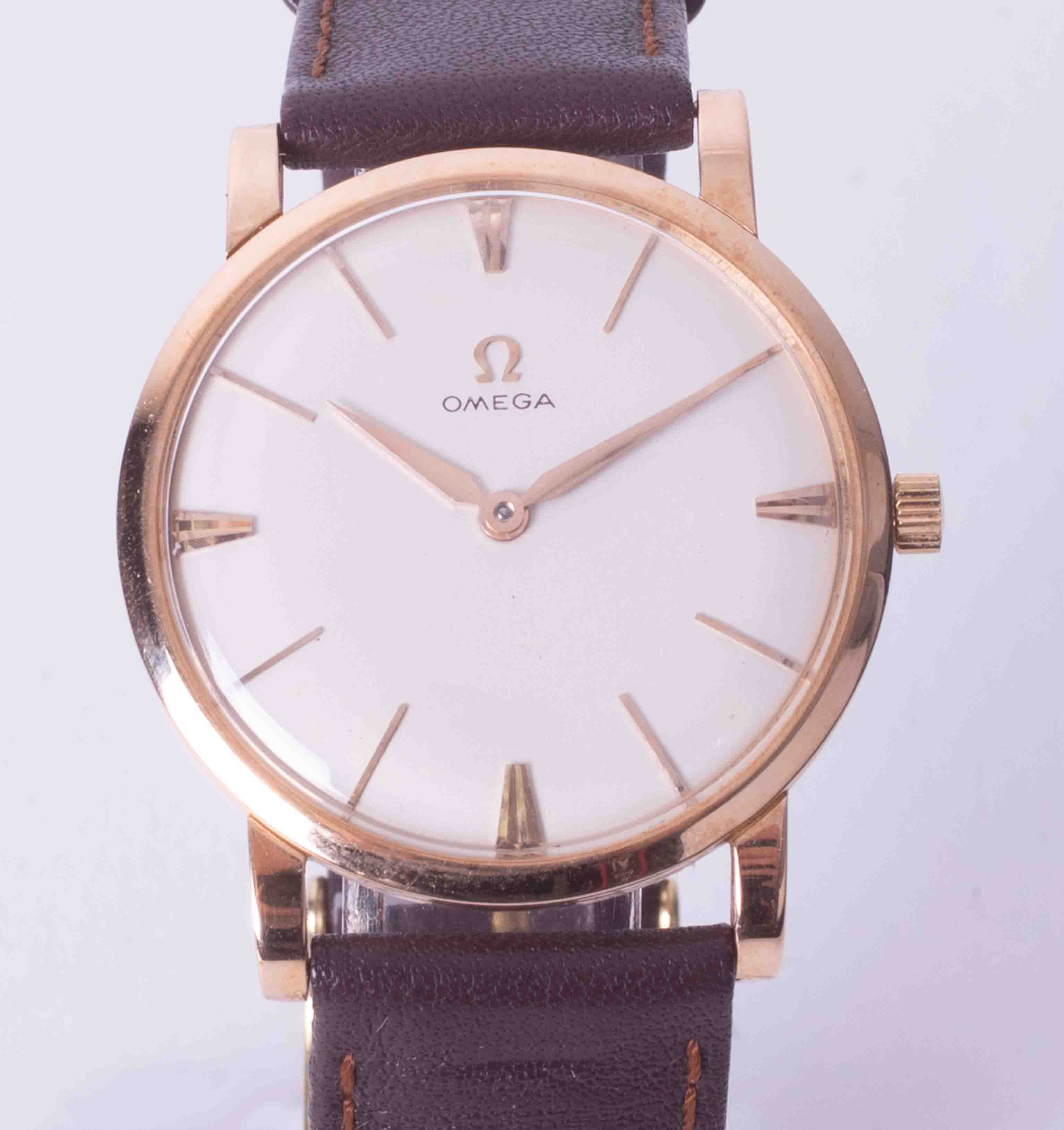 Omega, a gents gold plated manual wind 'Slim line' wristwatch circa late 1960's/70's full off