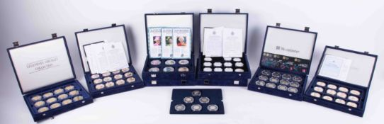 Westminster Mint, a collection of eight various part and full sets of commemorative coins, mainly
