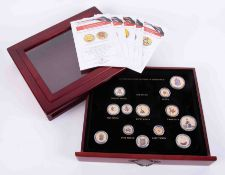 London Mint, Changing Face of Britain's Coinage, boxed set of eight coins and a further four loose