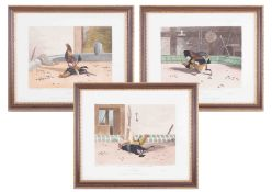 A group of six sporting prints after Ackermann, framed and glazed.