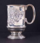 Small late Edwardian silver tankard by George Hawkins, 83gms.
