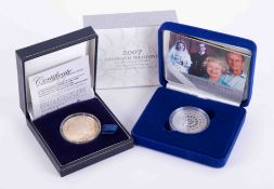 London Mint, a gold plated silver Tristan Da Cunha dragon five pound coin, boxed together with