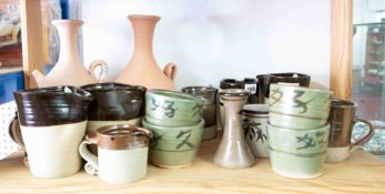 Jeremy Leach (Lowerdown Pottery, Bovey Tracey), a collection of various Studio Pottery, sixteen