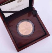 The Royal Mint, The Sapphire Jubilee of her Majesty the Queen, 2017 five pound gold proof coin,