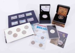 Concorde commemorative collection of six ingots, gold plated case together with various
