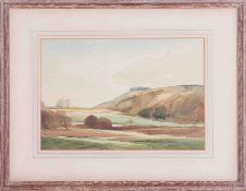 Edwin Harris (1891-1961) watercolour Chanctonbury, Surrey, signed, 25cm x 35cm, framed and glazed.
