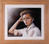 Arthur Rodmell, oil on board 'Portrait of Lady', 45cm x 52cm, signed, framed.