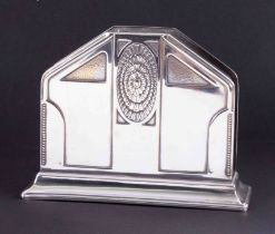 WMF, an Art Deco style letter rack, height 11cm.
