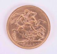 Edward VII, gold full sovereign 1909.