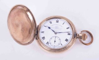 Thomas & Russell & Son, Liverpool, gold plated full hunter pocket watch.