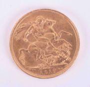 George V, gold full sovereign 1917 (S-Sydney).