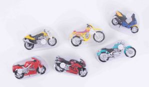 A collection of Maisto model bikes including Honda, BMW, Yamaha etc, approx 30.