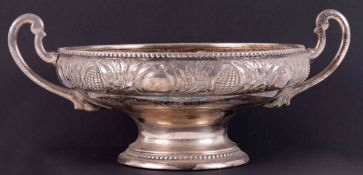 WMF, a silver plated twin handled fruit bowl, height 16cm.