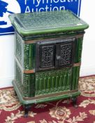 A French enamelled stove, height 64cm and width 47cm.