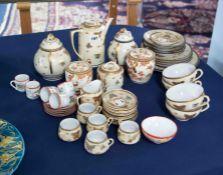 A Japanese Satsuma tea wares, also eggshell porcelain tea wares, etc.