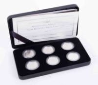 Brittania, 2007 silver proof one pound collection, cased.
