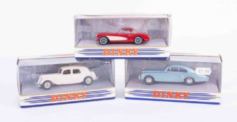 A collection of boxed Dinky models including 1952 Citroen 15 CV, 1955 Bentley 'R' Continental,
