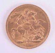 George V, gold full sovereign 1912.